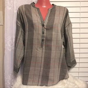 Lucky Brand | Plaid Long Sleeve Blouse | NWOT